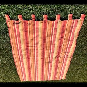 Vintage Pier 1 Striped Tab Top Curtain Panel